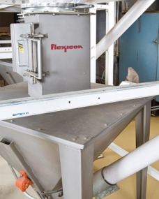 Flexible screw conveyors save maintenance and sanitation costs for a peanut processor