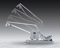 Tilt-Down Flexible Screw Conveyor Fits Tight Spots, Collects Dust, Sanitizes Easily