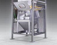 Discharger Dust Containment Enclosure Contains Bag Spout Leaks and Spills