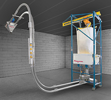 Bulk Bag Weigh Batching System with Integral Tubular Cable Conveyor
