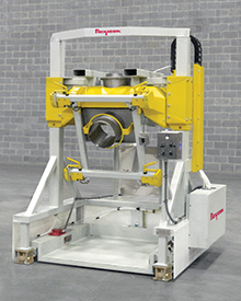 Low-Profile Bulk Bag Filler Pivots Fill Head to Operator