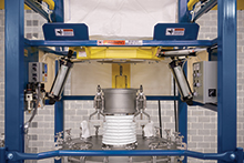 Bulk Bag Discharger with Hopper Shuttle System
