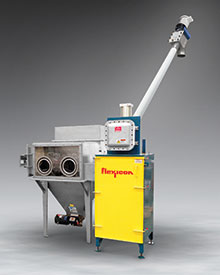 Explosion-Proof Bag Dump Station with Glove Box, Compactor, Conveyor