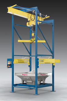 Discharger-Pierces-Single-Use-Bulk-Bags-Cuts-Cycle-TimesDischarger Pierces Single-Use Bulk Bags, Cuts Cycle Times