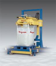 REAR-POST-Bulk-Bag-Filler-with-Roller-Conveyor