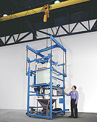 Hoistable Bulk Bag Discharger Obviates Forklifts, Conveyors
