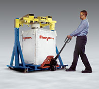 Low Profile Bulk Bag Filler Allows Bag Removal with Pallet Jack