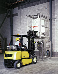 Split-Frame Unloader for Bulk Bags and Rigid Bins