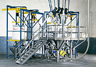 Bulk Bag Weigh Batch System with Pneumatic and Flexible Screw Conveyors