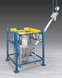Half Frame Low Cost Bulk Bag Unloader with Flexible Screw Conveyor