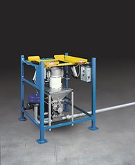 Half Frame Low Cost Bulk Bag Discharger for Pneumatic Conveying Systems