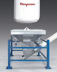 Single-Trip Bulk Bag Unloader with Flexible Screw Conveyor
