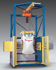Bulk Bag Conditioner with Hoist, Trolley