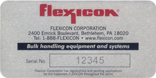Flexicon sample nameplate